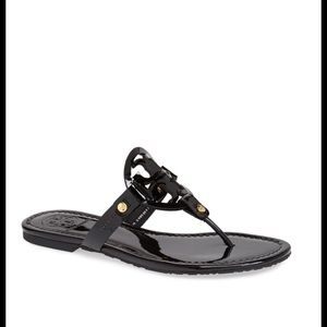 Tory Burch Miller black patent sandals 9